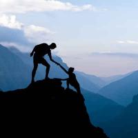 Rock climbing photo illustrating support